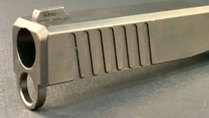 Front serration milling