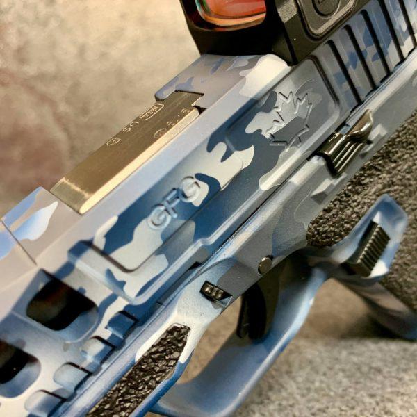 GFG Navy Multicam Cerakote Raptor B slide GLOCK19 NomadDefence P80 Holosun