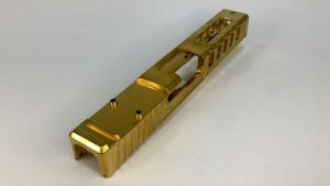 GFG Raptor Slide for GLOCK® 19 Gen4, Golden Titanium Nitride polished